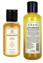 KHADI NATURAL OLIVE OIL HERBAL MASSAGE OIL 100 ML / 210 ML HEAD AND BODY - £10.43 GBP+