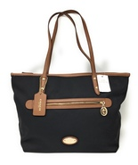 Coach Sawyer Nylon Canvas and Leather Tote in Black - NWT - $250 MSRP! - $124.95