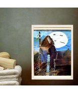 8 X 10 Moonlight Indian Maiden Matted Artwork - $14.40