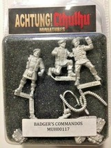 Achtung! Cthulhu Miniatures - 28mm - Badger`s Commandos - Modiphius #117 - $15.15