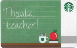 Starbucks 2012 Teacher Collectible Gift Card New No Value - $7.99
