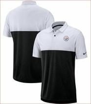 new NIKE Breathe men polo jersey NFL STEELERS dri fit AO3497-007 grey sz... - $34.64