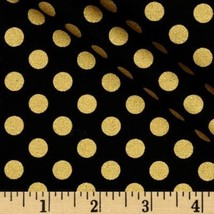 BLACK with GOLD DOT Linens-Table Runner or Napkins -or Placemats -Center... - $8.50