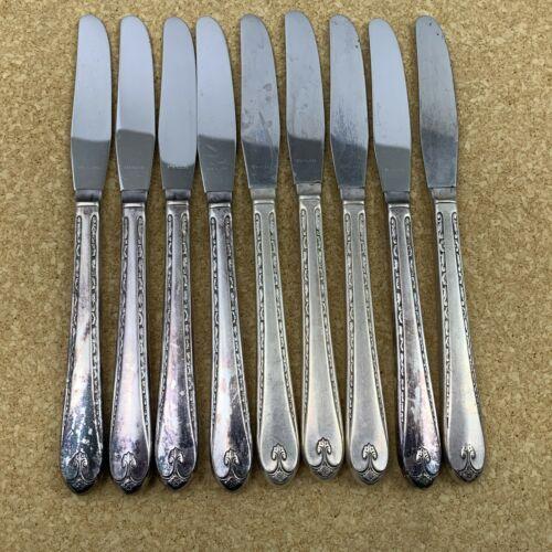 4 Wm Rogers Mfg Talisman Pattern Silverplate Flatware Teaspoons