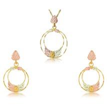 Black Hills Golden Circles Earrings & Pendant Set I - $247.50