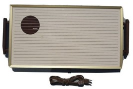 Vintage Rival Electric Hot Serv Warming Tray 607 Thermostat With Wood Ha... - $20.53