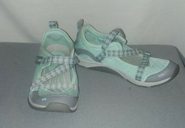 Ryka Kailee Shoes Size 8M Adjustable Mesh Mary Jane Sneakers Green Gray - €13,59 EUR