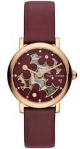 New Marc Jacobs Ladies Classic Red Leather Strap Gold Case Womens Watch MJ1629 - $89.46