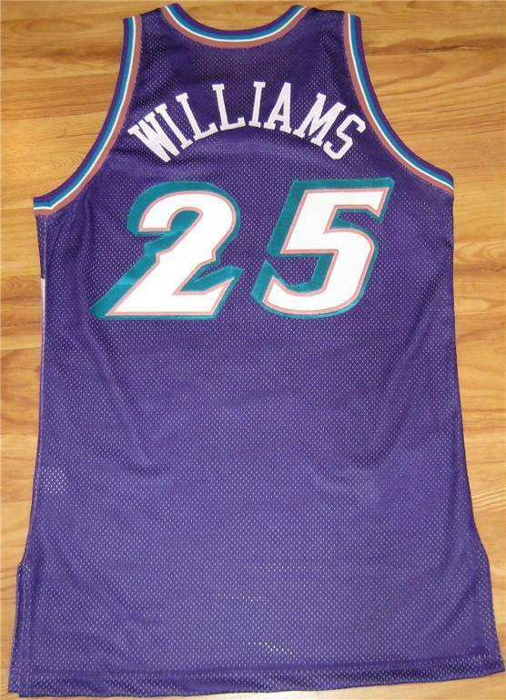 Primary image for MO WILLIAMS UTAH JAZZ GAME USED WORN ROOKIE JERSEY PURPLE 2003-04 AUTHENTIC CAVS