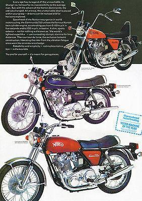 Primary image for 1973 Norton Commando Line - Promotional Advertising Poster