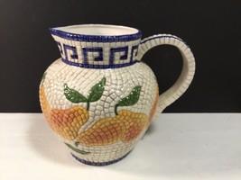 """Clay Art Mosaic Pear Pitcher 8"""" tall x 7"""" wide VGC CUTE - $14.85"""