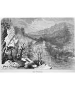 WEST VIRGINIA Petersburg Gap - 1883 German Print - $16.20