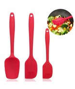 Rubber Spatula Non Stick Coating 20.6-25cm Cake Baking Mixing Spoon Silicone NEW - £6.36 GBP
