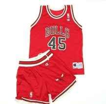 Champion NBA Bulls Jersey Shorts Jordan 45 Youth Large (14-16) Rare FLAW... - $89.05
