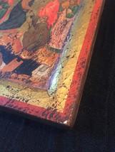 Handmade 80s European Byzantine Icon Art: Resurrection image 5