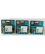 3X  HP 65 (N9K02AN) Black Ink Original Cartridge BB Jul/2022 - $49.49