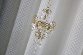 Suncatcher Mini Chandelier Crystal Prisms Wind Chimes Hanging Drops Doll... - $35.00
