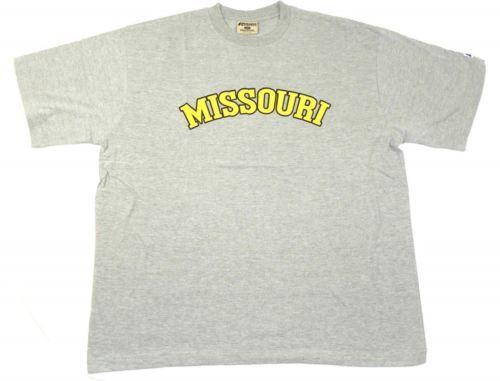 Missouri Tigers Shirt Big Men's Tee Athletic Grey Wordmark T-Shirt Mizzou