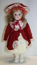 "14"" Porcelain Doll Strawberry Blond Hair Blue Eyes Unbranded - $19.79"
