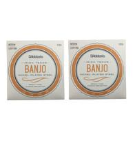 D'Addario Irish Tenor Banjo Strings 2 Packs EJ63i Medium Loop End - $13.42