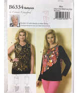 Butterick B6334 Womans Pullover Top Sewing Pattern Sizes XS,S,M,L,XL - $13.00