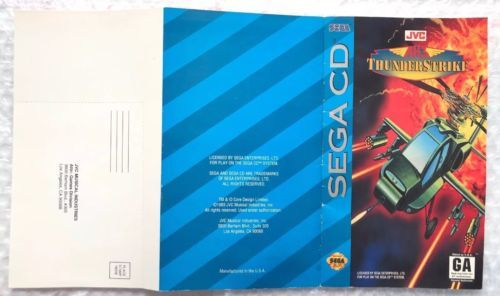 ☆ AH-3 Thunderstrike (Sega CD 1993) NEAR Complete in Case Game Tested Works READ