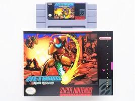 Super Metroid Zero Mission - Game + Case - SNES Super Nintendo - Custom ... - $34.29+