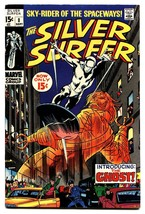 Silver Surfer #8 comic book 1969- Marvel Comics- Ghost appearance - $63.05