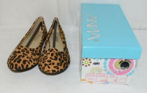 Anna Truman 1 Loepard Print Suede Womens Flats Size 5 And Half