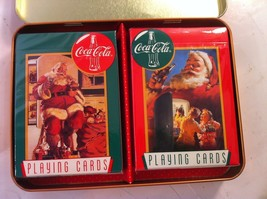1995 COCA COLA NOSTALGIC PLAYING CARDS IN TIN--LIMITED--2 DECKS--FREE SH... - $9.86