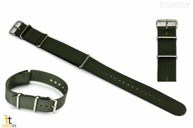 Primary image for 22mm Heavy Duty High End Sage Green Woven Fits Hamilton Watch Band Strap 3 Loops