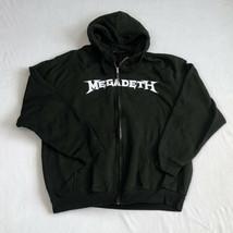 Megadeth Double Sided Black Zip Hoodie Hooded Sweatshirt Mens Size XL - $29.99