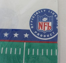 Vintage NFL Tablecloth Paper Table Cover Football 54 x 89 Licensed 1997 USA - $12.06