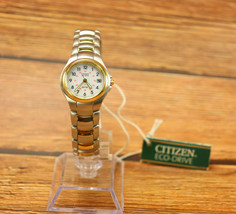 Citizen Eco-Drive Ladies EW1174-51B Two-tone Vintage BRAND NEW with Tag 1990's  - $295.00