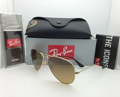 Polarisierend Sonnenbrille Ray-Ban RB 3025 001/M2 58-14 Gold Aviator Braun