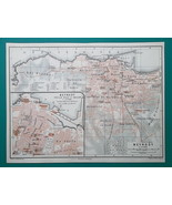 LEBANON Beirut City Town Plan Middle East - 1911 MAP - $30.60