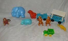 Vintage Fisher Price Little People Zoo Animals #916 Elephant Hippo Monkey Bear - $39.59