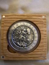 Zodiac Horoscope Aquarius The Water Bearer 1 oz Silver Capsuled Antiqued... - $89.09