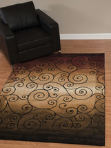 Transitional Contemporary Scroll Area Rug **FREE SHIPPING** - €48,46 EUR+