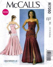 McCall's M7050 Womens Misses Formal Dresses Petite Sewing Pattern Sizes 14-22 - $10.45
