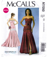 McCall's M7050 Womens Misses Formal Dresses Petite Sewing Pattern Sizes ... - $10.45