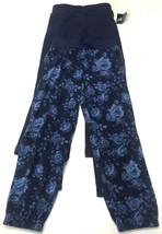 George Girls Pants Set of 3 Yoga Jeggings Track Navy Blue Solid Floral 6 - $21.99