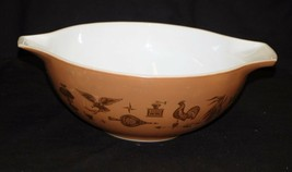 "Old Vintage Pyrex 13"" Cinderella Mixing Bowl Early American 4 Qt. Kitchen Tool - $34.64"