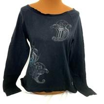 Harley-Davidson Womens Black Top #1 Graphic T-Shirt Scoop Neck Reinforce... - $29.69
