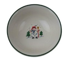 Pfaltzgraff SNOW VILLAGE Soup Cereal Bowl 6.25 inches Christmas Holiday - $11.08