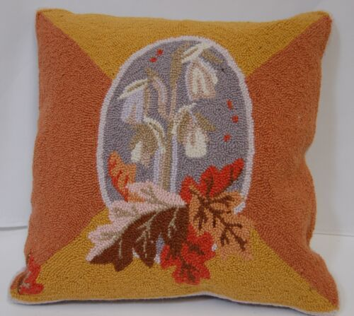 Cottage Pillow 529977 Indian Pipe Flowers Fall Leaves Removable Cover