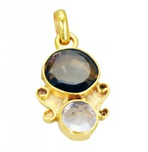 Fashion Gold Plated Smoky Quartz Crystal Gemstone Pendant Jewelry FFU23J... - $12.77