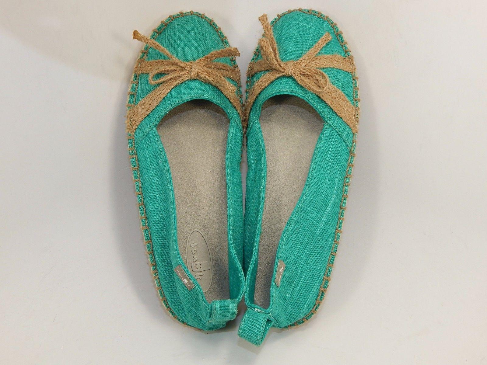 Sanuk Laci Turquois Colored Women's Casual Sandals Shoes Size US 7 M (B)
