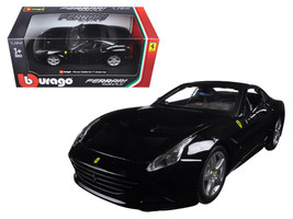 Ferrari California T Black Closed Top 1/24 Diecast Model Car by Bburago - $26.99