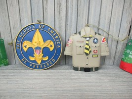 BOY SCOUTS of AMERICA Ornaments - Set of 2 - New with Tags - $10.00
